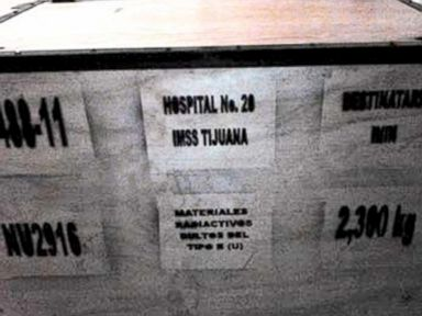 PHOTO: This image released by the National Commission on Nuclear Safety and Safeguards of Mexicos Energy Secretary, Dec. 4, 2013, shows a large box that is part of the cargo of a stolen truck hauling radioactive material, in Tepojaco, Mexico.
