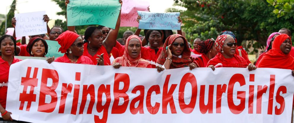 PHOTO: Women attend a demonstration calling on the government to rescue the kidnapped schoolgirls of the Chibok secondary school, in Abuja, Nigeria, May 13, 2014.