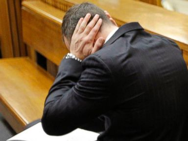 Oscar Pistorius Covers His Ears During Shooting Testimony