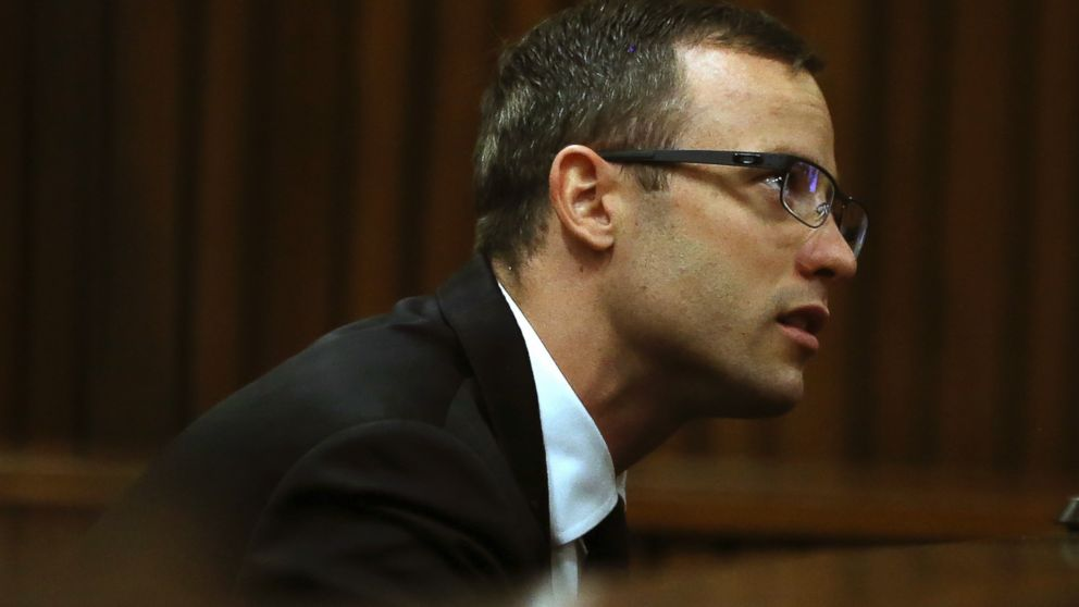 PHOTO: Oscar Pistorius sits in the dock in court in Pretoria, South Africa, April 7, 2014.