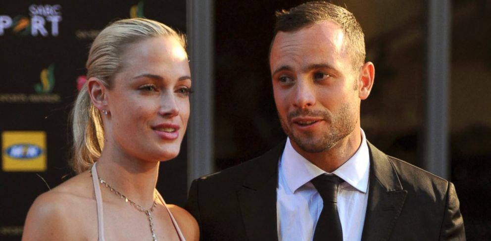 PHOTO: Oscar Pistorius and girlfriend Reeva Steenkamp are shown at an awards ceremony in Johannesburg, South Africa, Nov. 4, 2012.