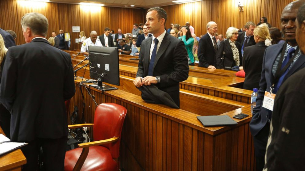 PHOTO: Oscar Pistorius, pictured during the second day of his trial at the high court in Pretoria, South Africa, March 4, 2014.