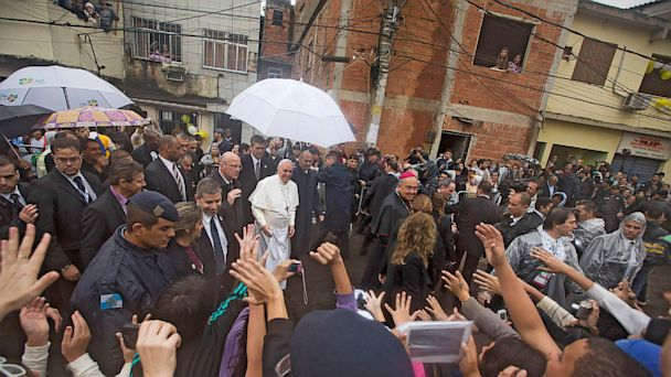 AP pope francis visits rio brazil slums thg 130725 16x9 608 Pope Blasts Selfishness and Corruption in Slum Visit