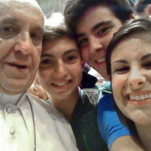 Pope Francis Takes a Selfie With Youths