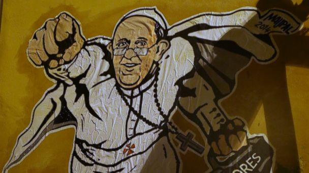 AP pope grafitti ml 140129 16x9 608 Super Francis Graffiti Gets Vaticans Seal of Approval