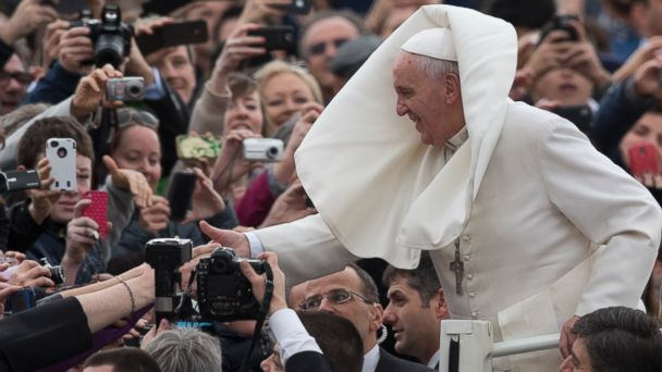 AP pope wind jef 140221 16x9 608 Instant Index: Pope Francis Battles the Wind