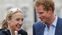 Prince Harry Greets a British Athlete