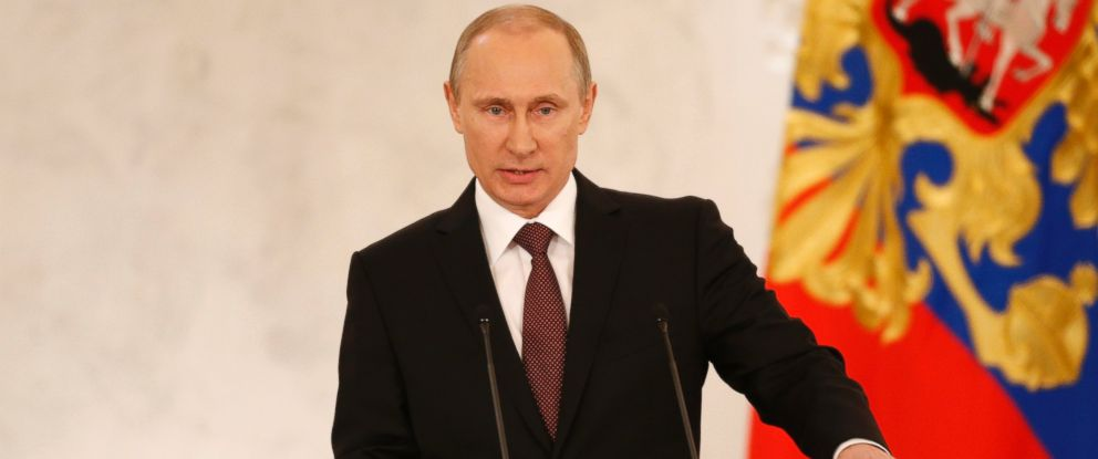 PHOTO: Russias President Vladimir Putin addresses the Federation Council in Moscows Kremlin, March 18, 2014.