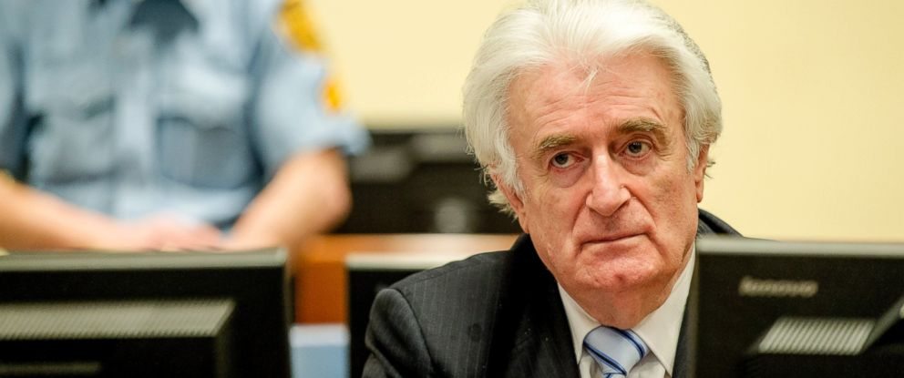 PHOTO: Radovan Karadzic is seen here in the courtroom for the reading of his verdict at the International Criminal Tribunal for Former Yugoslavia (ICTY) in The Hague, The Netherlands, March 24, 2016.
