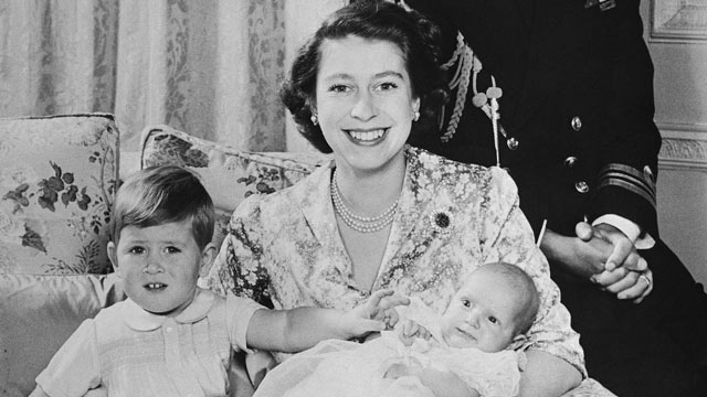 PHOTO: Princess Elizabeth holds her two children, Prince Charles and Princess Anne, as they sit for an official photograph released, Jan. 9, 1951 from their Clarence House residence in London.