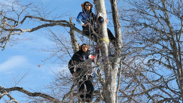 AP sochi downhill coaches wear chimpanzee masks in tree jt 140216 16x9 608 US and Canadian Ski Instructors Monkey Around at Sochi