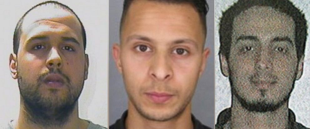 PHOTO: Khalid El-Bakraoui, Salah Abdeslam and Najim Laachraoui are seen in this undated file photo.