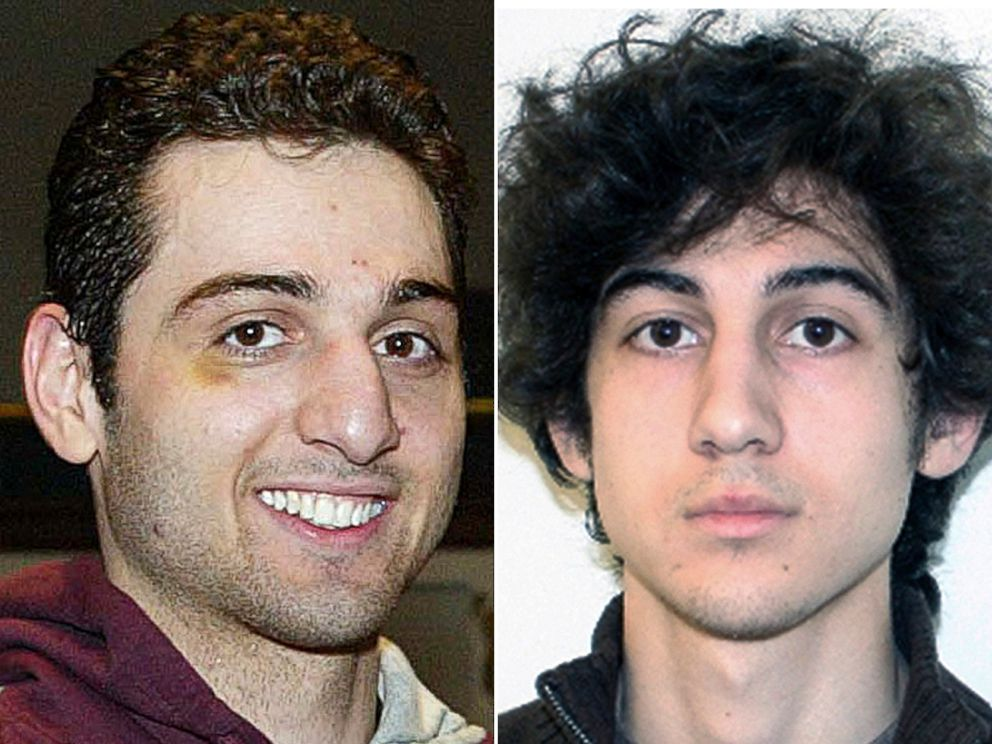 PHOTO: Tamerlan, left, and Dzhokhar Tsarnaev, brothers who planted bombs at the finish line of the Boston Marathon on April 15, 2013.