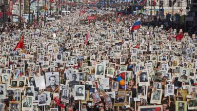 Russians Flood Streets in Surge of Victory Day Patriotism