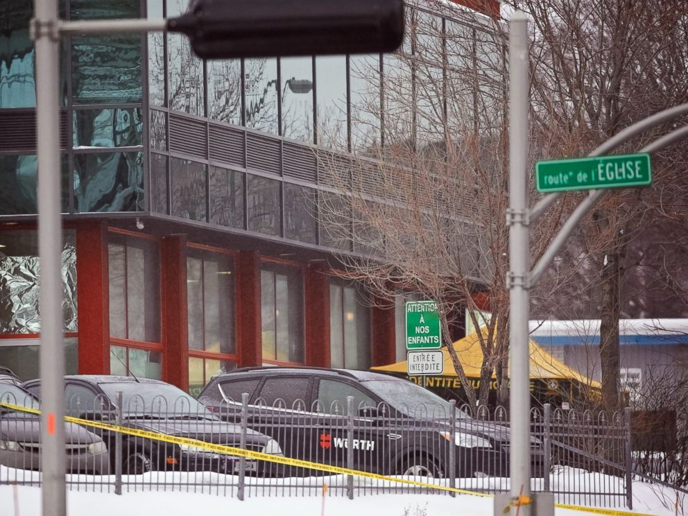 PHOTO: An exterior view of the The Quebec Mosque where two gunmen opened fire during evening prayers, on Jan. 30, 2017, killing six people and injuring eight others, at the Quebec Islamic Cultural Centre in Quebec City, Quebec, Canada, Jan. 29, 2017.
