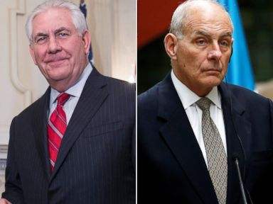 Tillerson and Kelly visit Mexico amid tension over deportation guidelines