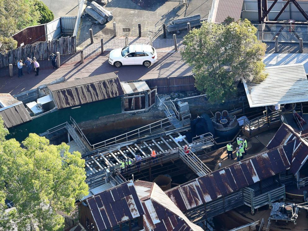 PHOTO: An Aerial View Shows Queensland Emergency Service Personnel At The  Scene Of An Incident