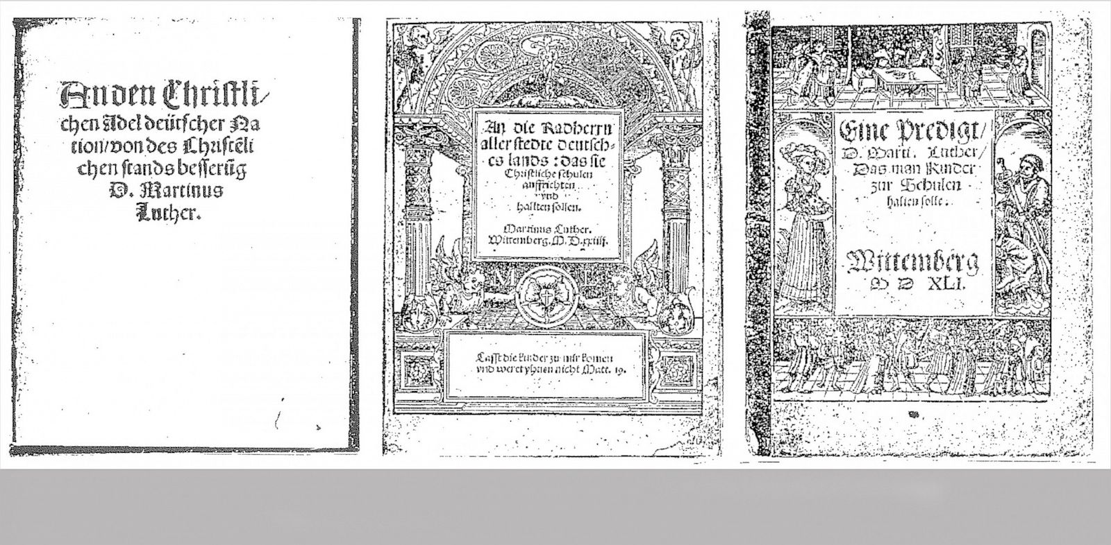 PHOTO: leaflets of reformer Martin Luther