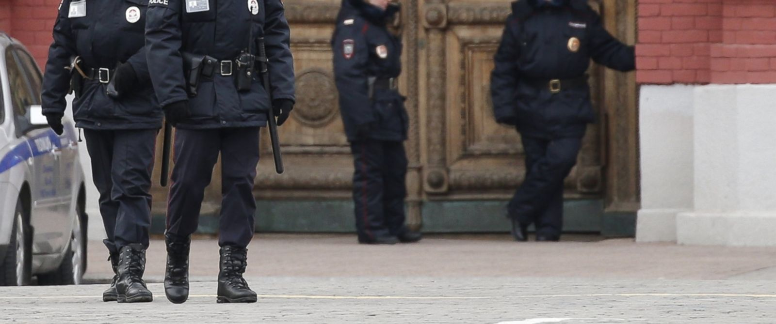 PHOTO:In this file photo, Russian police are seen standing guard at Red Square in Moscow, March 22, 2016.