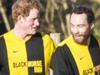 Prince Harry Plays In a Soccer Game with Duchess Kates Brother