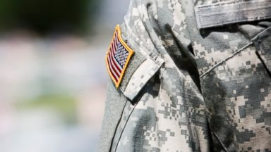 PHOTO: The American flag is seen on an army military uniform in this undated stock photo.