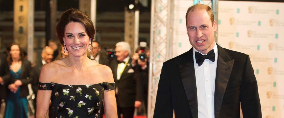 PHOTO: Prince William, and Kate, Duchess of Cambridge, attend the BAFTA British Academy Film Awards at the Royal Albert Hall in London, Feb. 12, 2017.
