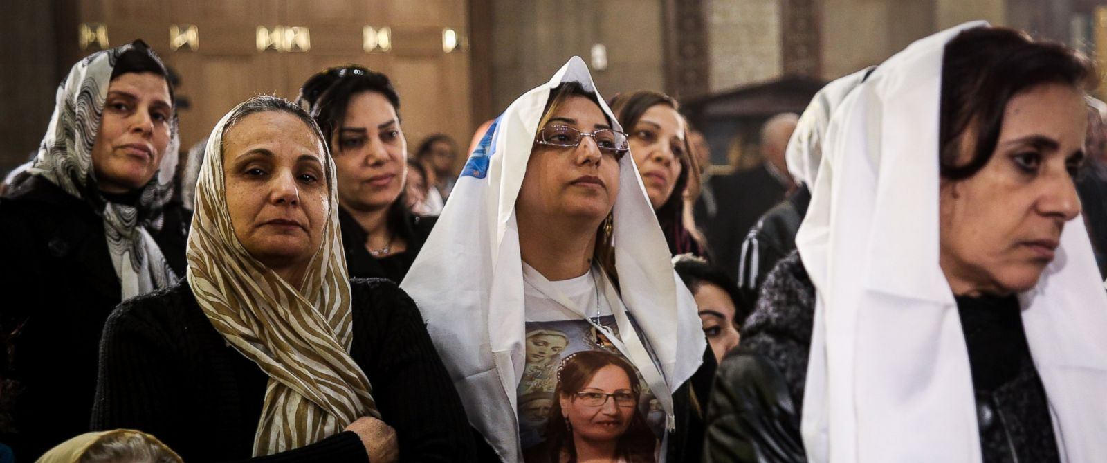 PHOTO: A mass in memory of the victims of the explosion at Saint Peter and Saint Paul Coptic Orthodox Church, is held on the 40th day after the attacks, at the Saint Peter and Saint Paul church in Cairo, Jan. 23, 2017.