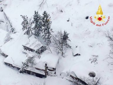 Rescuers Race to Reach Those Trapped by Avalanche at Italian Hotel