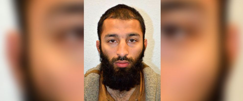 PHOTO: An undated handout picture released by the British Metropolitan Police Service in London, June 5, 2017, shows Khuram Shazad Butt from Barking, east London.