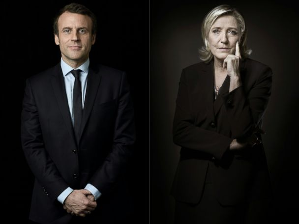 Far-right Le Pen, centrist Macron advance in French election
