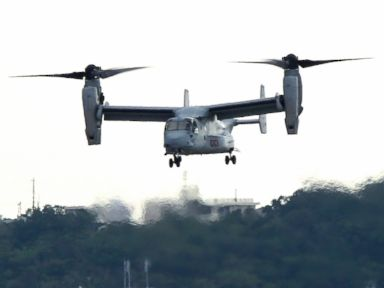 5 Marines Rescued After Osprey Goes Down Off Coast of Okinawa