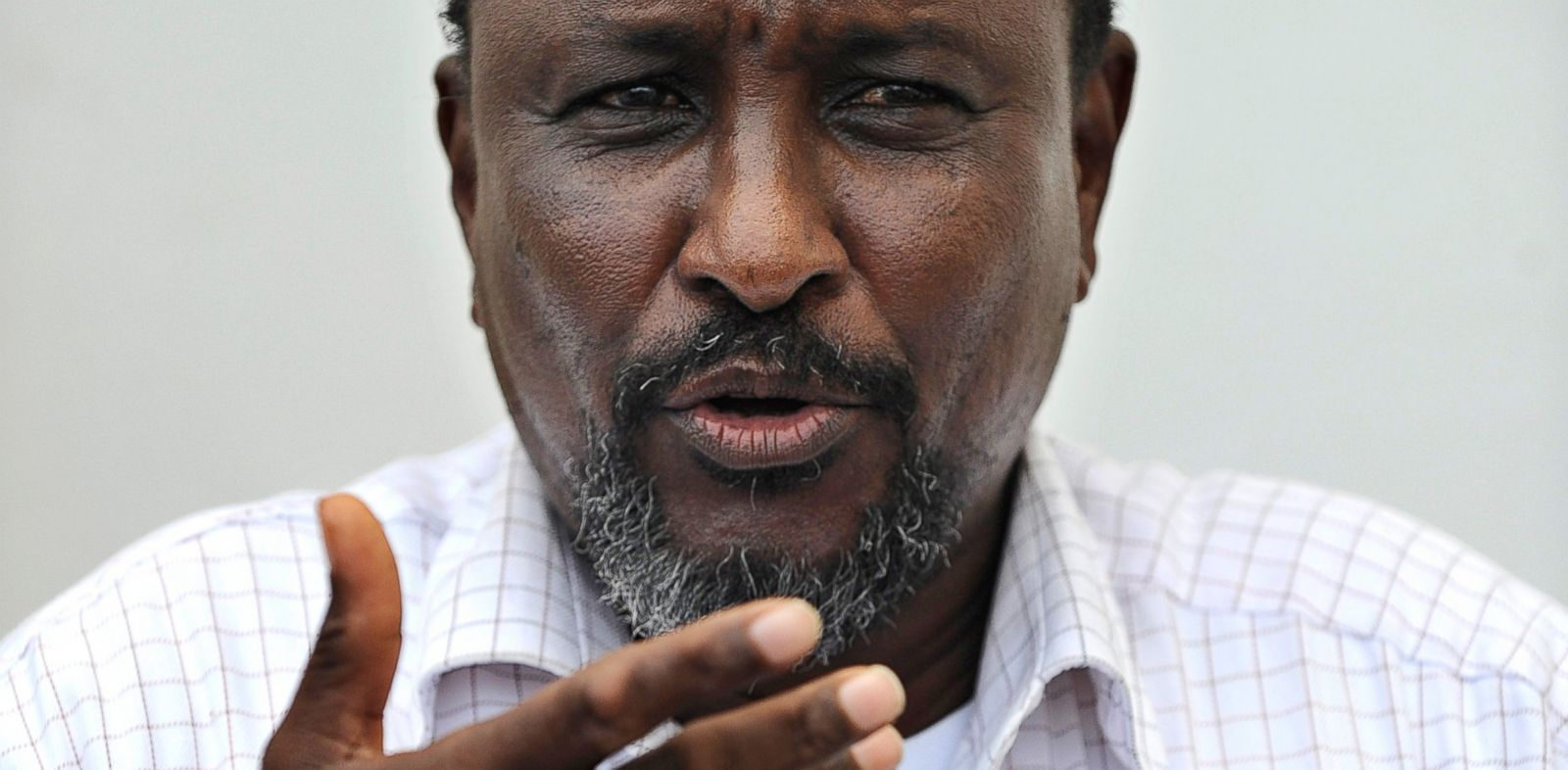 PHOTO: Mohamed Abdi Hassan, one of Somalias most notorious pirate chiefs, speaks on April 24, 2013