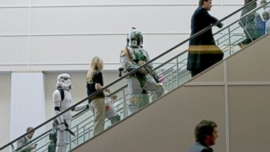 PHOTO: People dressed as characters from Star Wars are used to promote author Travis Browns How Money Walks at the Conservative Political Action Conference
