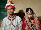 PHOTO: Mohammad Hasamur Rahman, 32, poses for photographs with his new bride, 15-year-old Nasoin Akhter, Aug. 20, 2015, in Manikganj, Bangladesh.