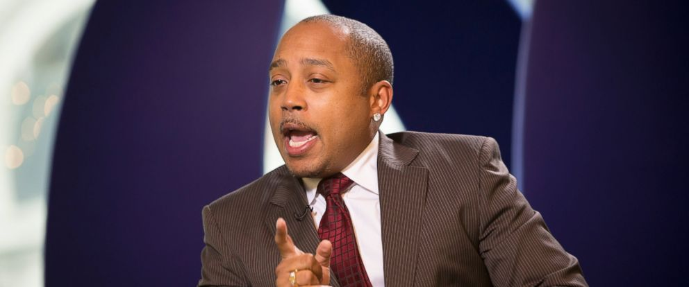 PHOTO: Daymond John speaks during an interview in New York, in this Jan. 25, 2013 file photo.