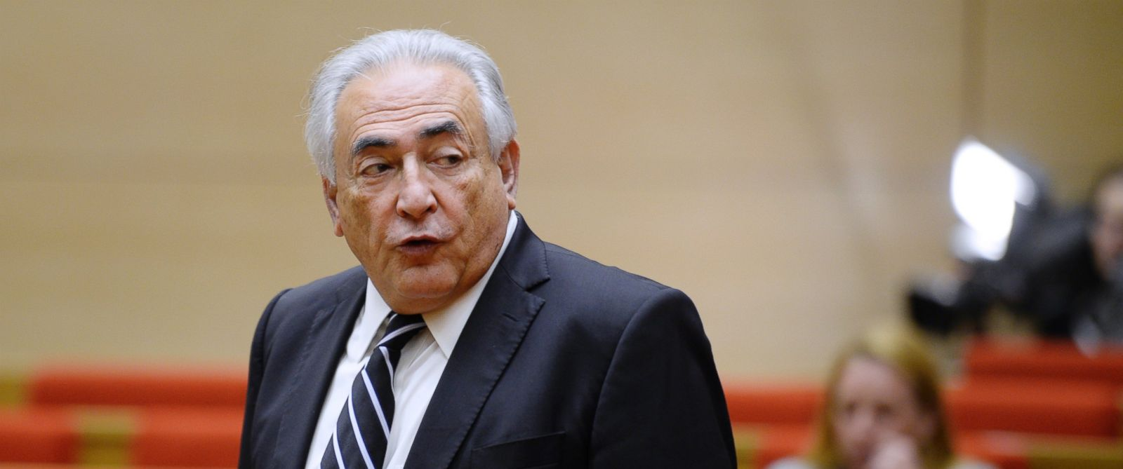 PHOTO: Former IMF chief Dominique Strauss-Kahn is pictured during a hearing before an investigation committee on capital flight at the French Senate in this June 26, 2013 file photo in Paris.