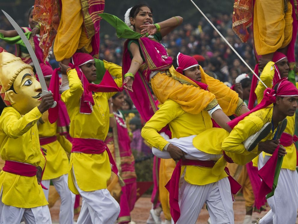 PHOTO: Indian dancers perform during the nations Republic Day Parade in New Delhi on January 26, 2015.