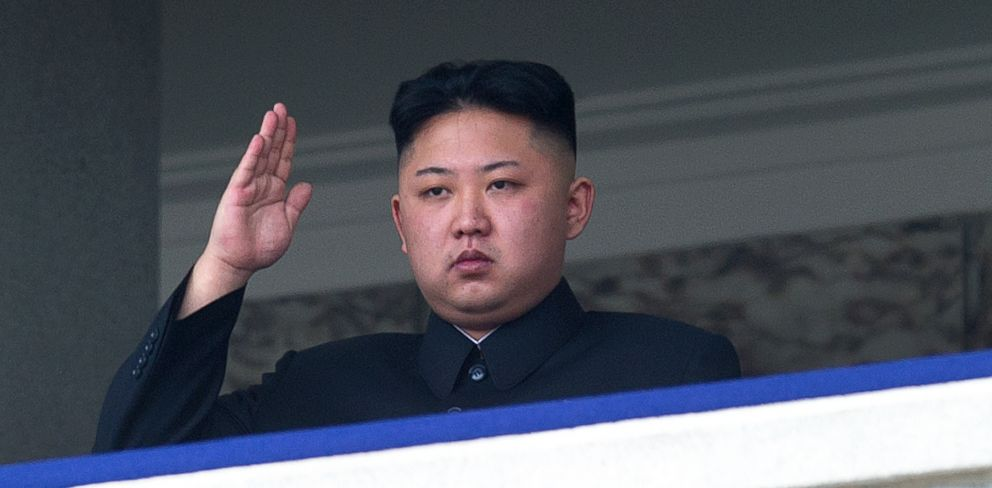 PHOTO: North Korean leader Kim Jong-Un saluting as he watches a military parade to mark 100 years since the birth of the countrys founder and his grandfather, Kim Il-Sung in this April 15, 2012, file photo.