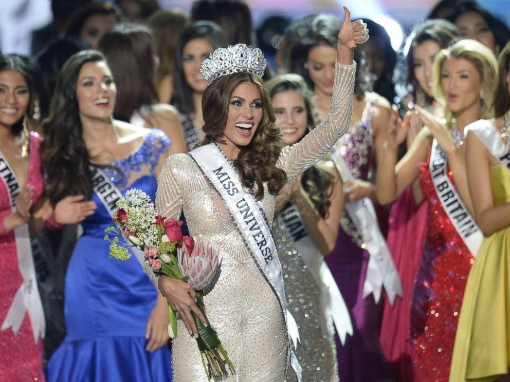 PHOTO: Miss Venezuela Gabriela Isler celebrates with her crown during the 2013 Miss Universe competition in Moscow on Nov. 9, 2013.