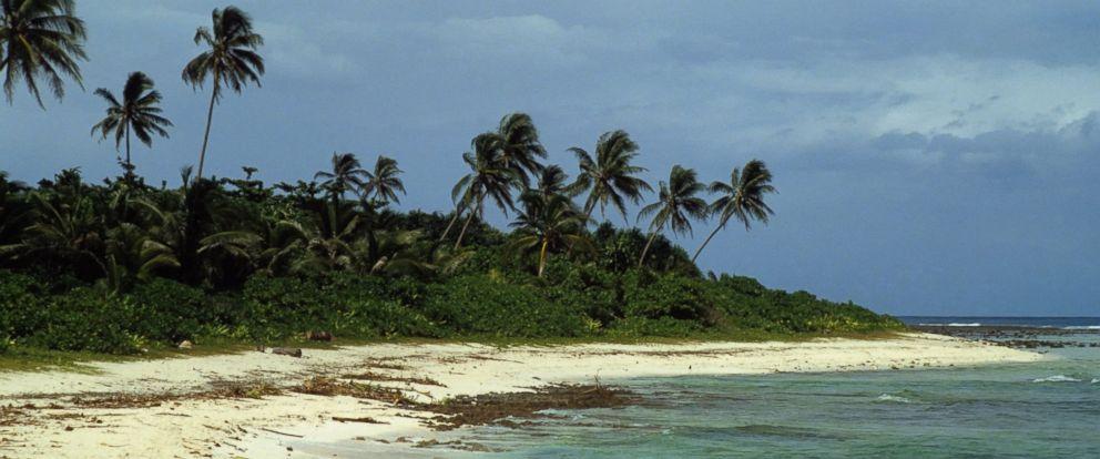 PHOTO: The beach on Santa Ana Island, shown January 1981, part of the Solomon Islands.