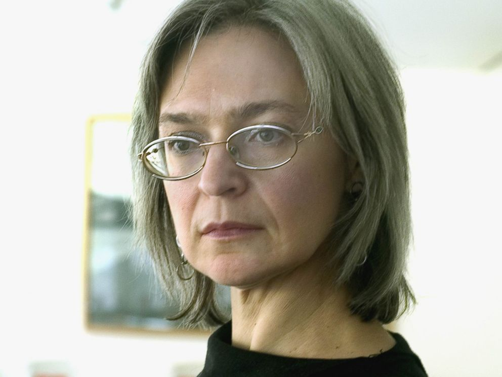 PHOTO: Russian journalist Anna Politkovskaya is photographed on Jan. 1, 2003.