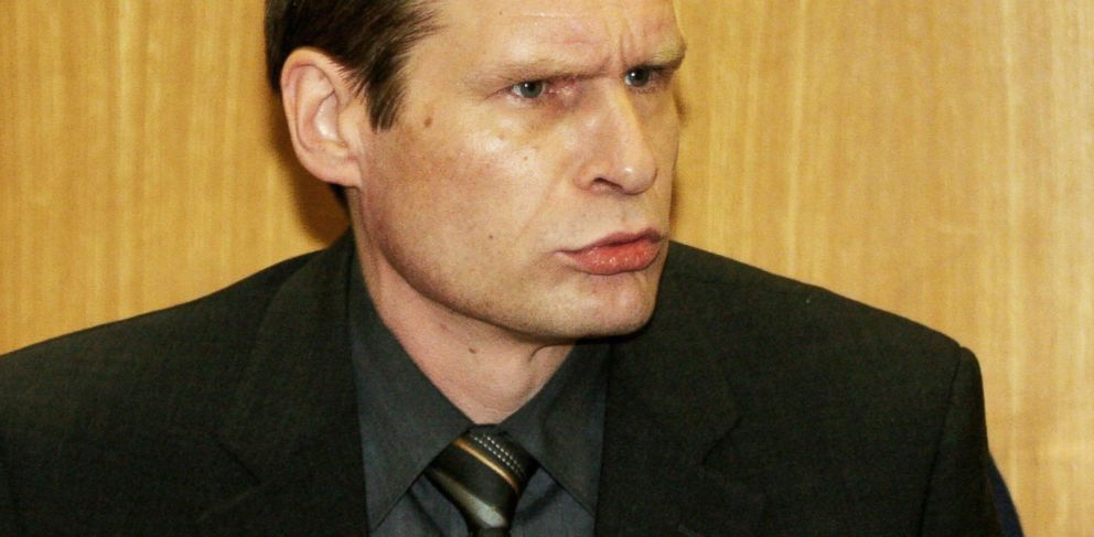 PHOTO: Self-confessed cannibal Armin Meiwes sits in the courtroom, Jan. 12, 2006 in Frankfurt, as prosecutors sought a murder conviction for him after he killed and ate an apparently willing victim he met on the Internet in 2001.