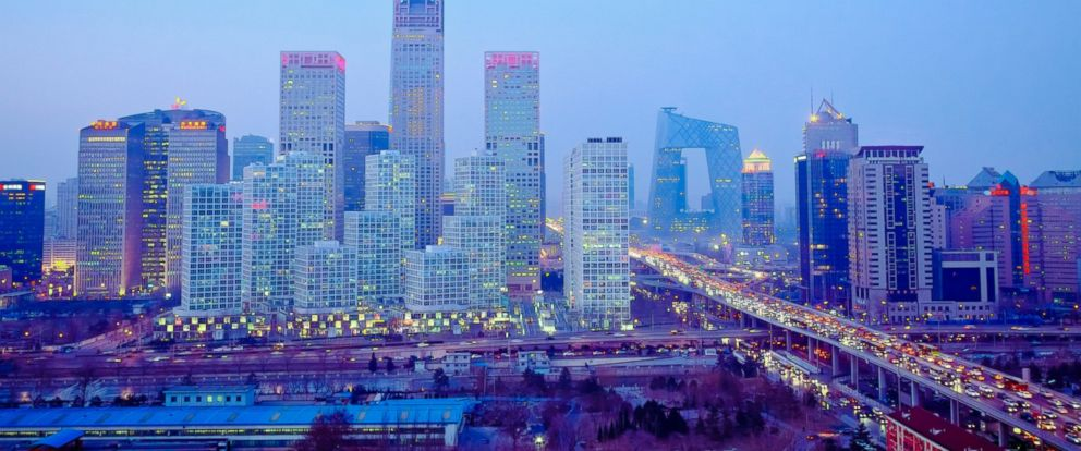 PHOTO: Beijing is pictured at night in this stock photo.