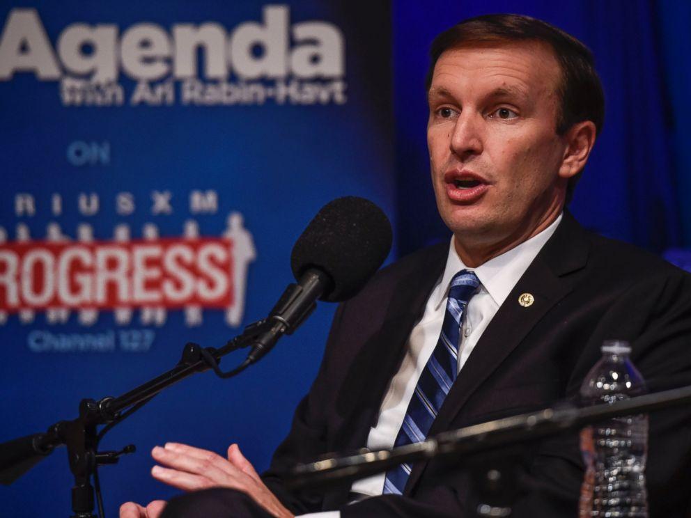 PHOTO: Sen. Christopher Murphy speaks at Protect America: A Sirius XM Forum On Stopping Gun Violence at SiriusXM Studio, July 14, 2016 in Washington.