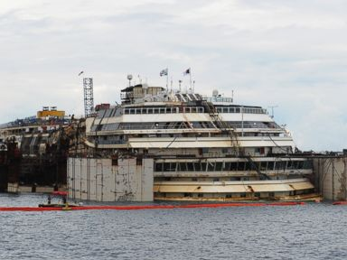 Costa Concordia Floated for Final Voyage - to the Junkyard