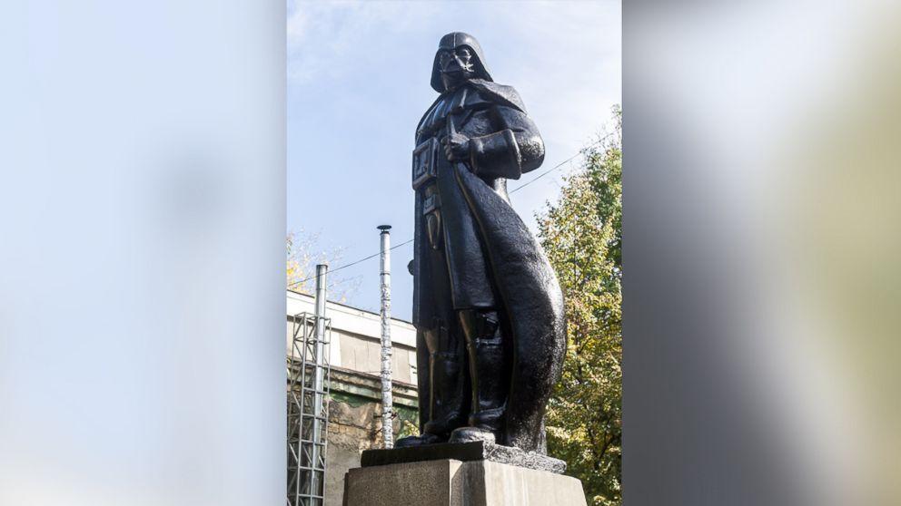 Artist Transforms Ukrainian Lenin  Statue into Darth Vader Monument
