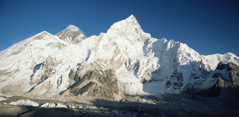 PHOTO: Mount Everest, the earths highest mountain, is seen in this file photo.