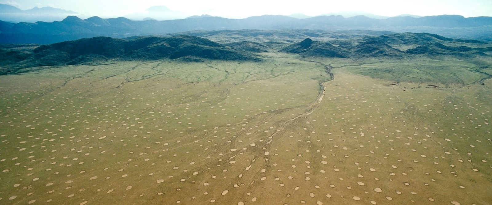 PHOTO: Fairy Circles are seen here in Namibia, Africa