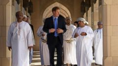 Prince Harry Visits the Sultan Gaboos Grand Mosque in Muscat