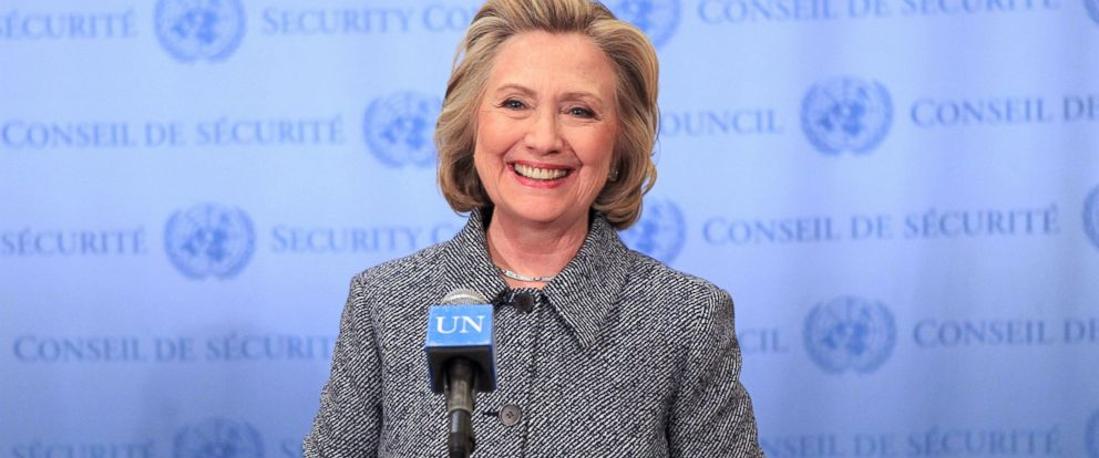 PHOTO: Hillary Clinton holds a press conference regarding her UN Womans Day speech and her email controversy at United Nations on March 10, 2015 in New York City.